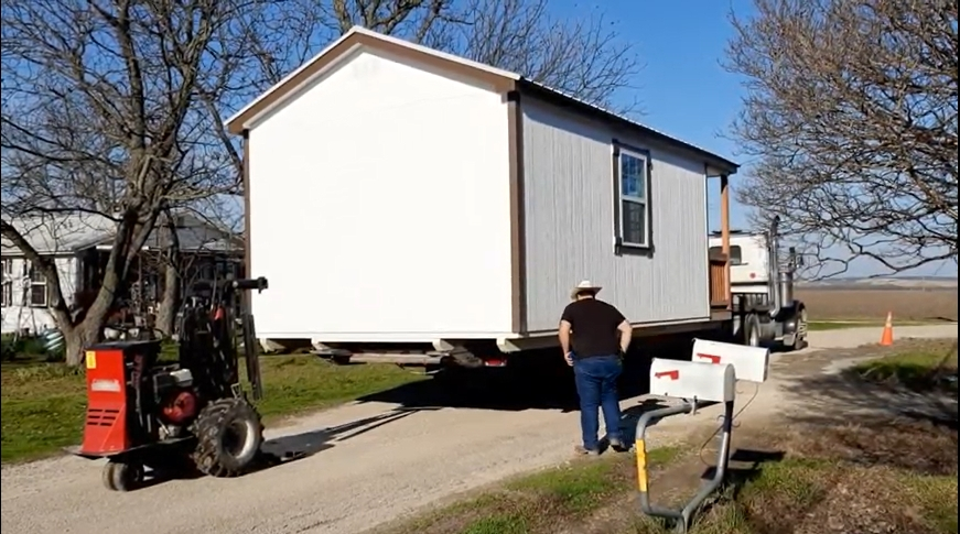 """PROJECT: """"Delivery Of A Small Cabin With Front Porch """""""